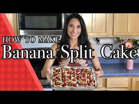 How to make Banana Split Cake -THE BEST