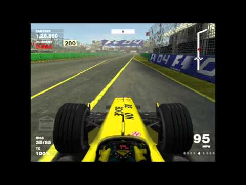 PS2 Classic - Formula 1 2004 - Career Australia first practice