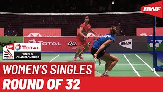 R32 | WS | Soraya DE VISCH EIJBERGEN (NED) vs. Saina NEHWAL (IND) [8] | BWF 2019