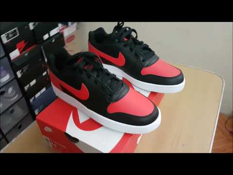 Unboxing of Nike Ebernon (Air Jordan 1 Bred and Nike Air Force 1 in one pair of sneakers)