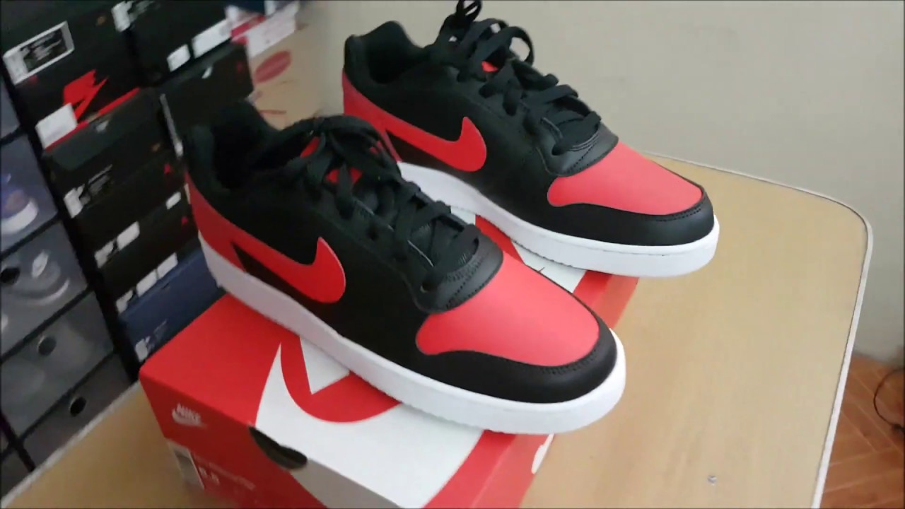 on sale 17816 c17d5 Unboxing of Nike Ebernon (Air Jordan 1 Bred and Nike Air Force 1 in one  pair of sneakers)