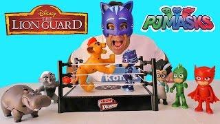 PJ Masks Vs. Lion Guard Pride Land Brawlers Wrestling ! || Toy Reviews || Konas2002