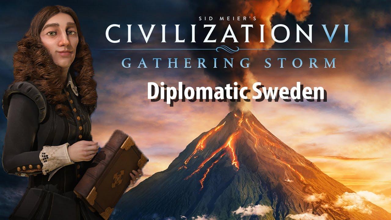 CIVILIZATION 6: GATHERING STORM | Diplomatic Sweden Run | Civ 6 Gathering  Storm Gameplay!