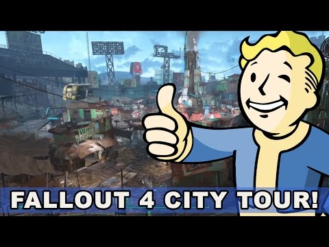 Take a Tour of Some Fallout 4 Cities (Sanctuary, Boston Commons, Diamond City)