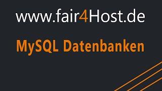 fair4Host | MySQL Datenbanken