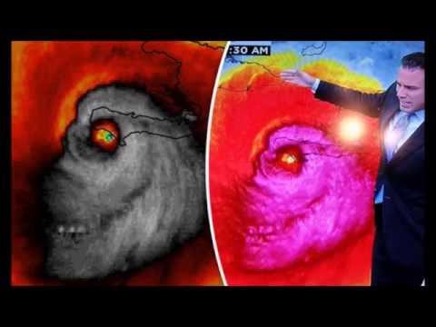 Skull Appears in Hurricane Matthew Satellite Map