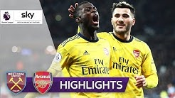 Magische 9 Minuten der Gunners   West Ham United - Arsenal 1:3   Highlights - Premier League 2019/20