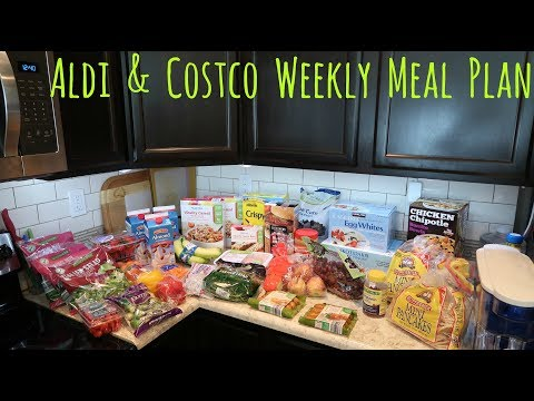 ALDI & Costco Grocery Haul and Meal Plan // Family of 4