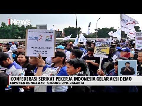Demo Tolak Omnibus Law, Massa Buruh Long March Menuju DPR - iNews Siang 20/01