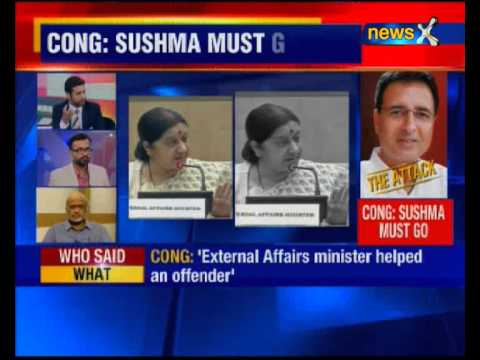 BJP defends Sushma Swaraj over Lalit Modi visa issue; Oppn demands minister's resignation