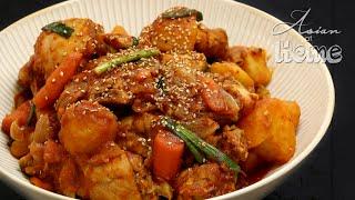Asian at Home  Dakbokkeumtang (Korean Spicy Chicken Stew)