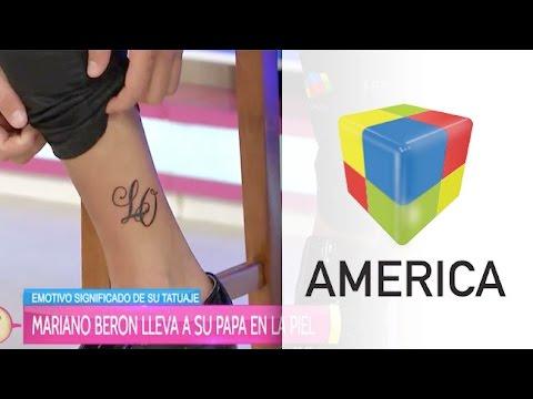 Mariano Berón mostró su nuevo tatoo sentimental