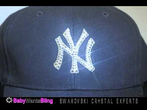6452b485f8e New York Yankees Swarovski Crystal Bling Rhinestone Hat Cap - YouTube