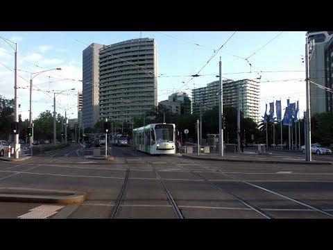 Melbourne Tram Driver View - Swanston St & St Kilda Road Janaury 2016