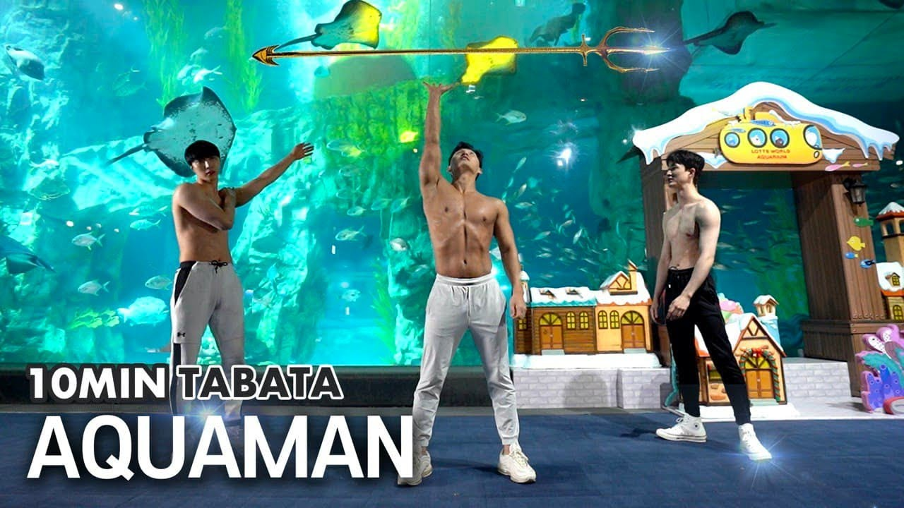 🔱Wannabe Aquaman? 10m Fullbody TABATA(LOTTEWORLD AQUARIUM) | 아쿠아맨 바디를 만드는 전신 10분 타바타(롯데월드 아쿠아리움)