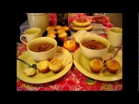 Pinto Beans And Cornbread Muffins / Soul Food Recipes