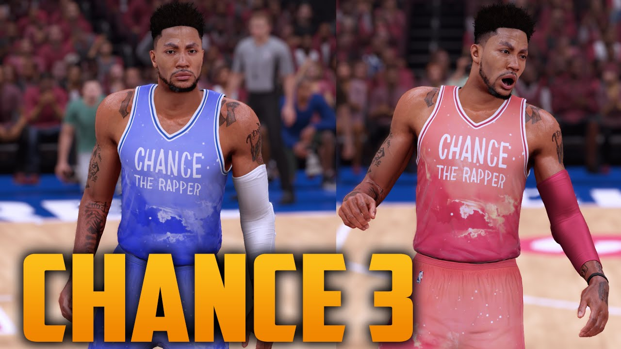 NBA 2K16 Chance The Rapper Coloring Book 3 Jersey Court Tutorial