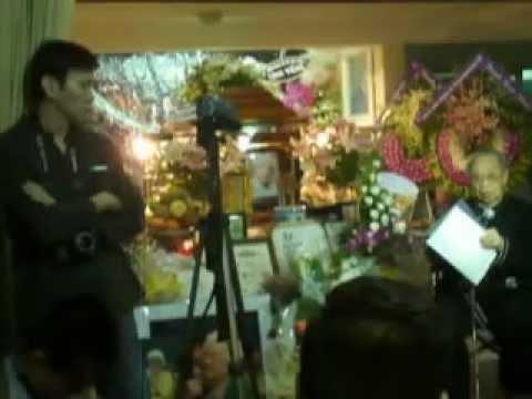 Đám tang Phạm Duy - GSTS Trần Văn Khê đọc điếu văn