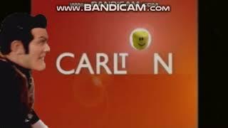 Robbie Rotten hides Roblox head in the Carlton logo