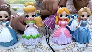 迪士尼公主的變裝遊戲 白雪公主 長髮公主樂佩 美女與野獸 貝兒 美人魚公主 disney princess 玩具開箱一起玩玩具Sunny Yummy Kids TOYs