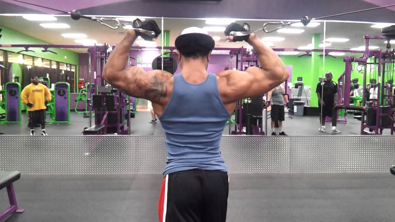 High cable bicep curls - YouTube