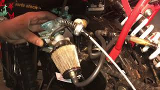 Changing throttle cable on Apollo ADR 125/Db007/SSR/TaoTao/lifan/Pitster 125cc PART 2