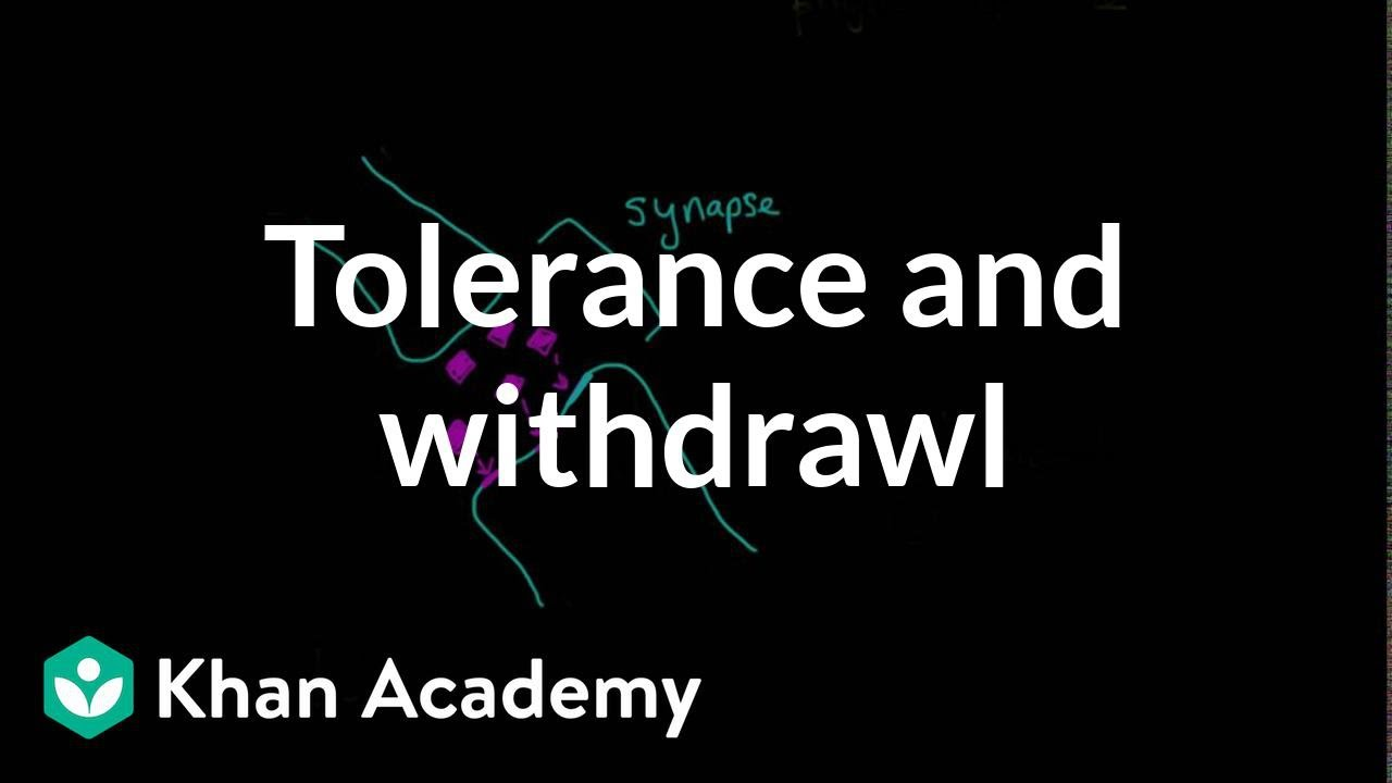 Tolerance and withdrawal (video) | Khan Academy