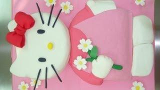 Super Hello kitty fondant cake