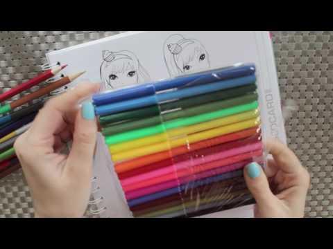 Topmodel Malbuch | 1 Euro Stifte Challenge | Kleider malen || Foxy Draws