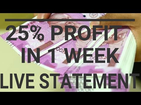 SMALL CAPITAL TRADERS :TRADING STATEMENT LIVE OF 25,000/- CAPITAL. motivation for traders