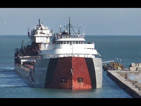The Cason J. Callaway docking at Buffington Harbor 1/02/16
