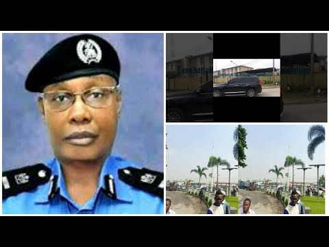 POLICE IG D1SGRAC€D BY RESIDENTS AS HE LANDS IN LAGOS FEW DAYS TO JUNE 12 PROTEST