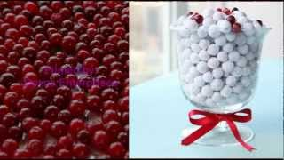 клюква в сахарной пудре cranberry in icing sugar  рецепты