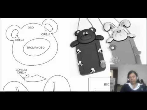Porta carnet en foamy youtube for Escarapelas en foami
