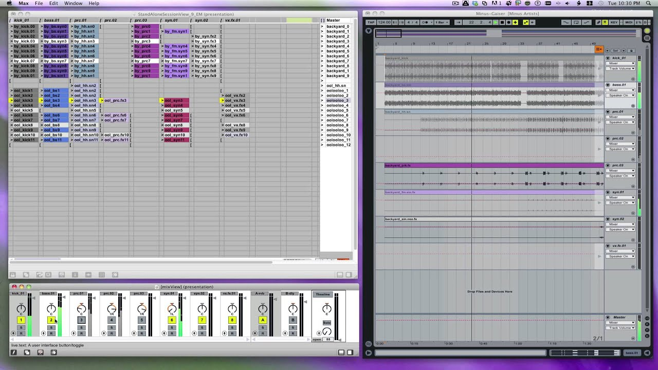 Ableton Live 8 and 9, multi-windows !