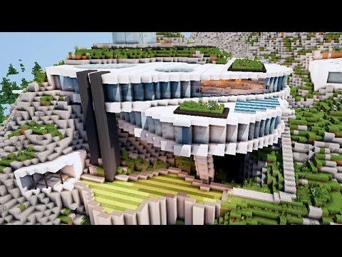 Minecraft maison de luuuxe sur le flac serveur youtube for Maison moderne mc