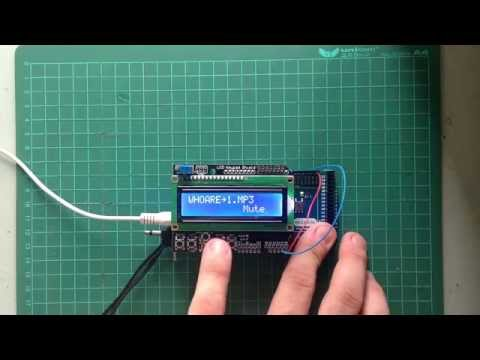 MP3 player_Arduino ADK, CYTRON MP3 shield & LCD Keypad Shield