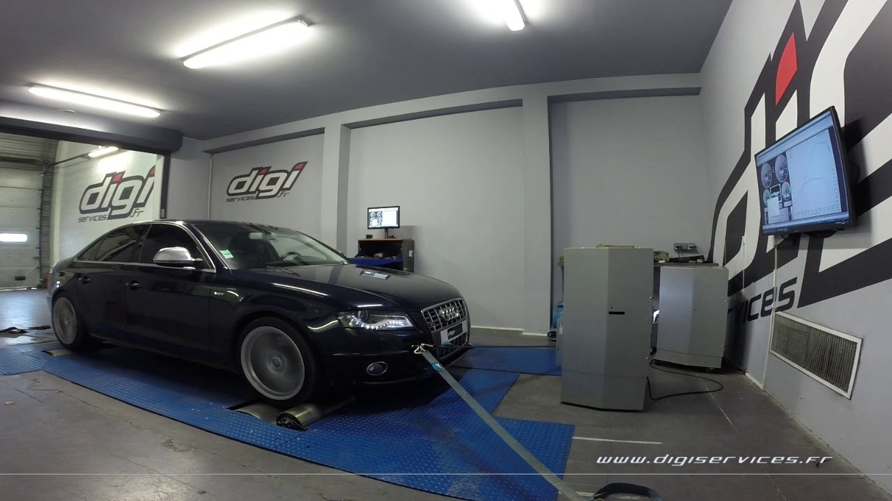 audi s4 tfsi 333cv auto reprogrammation moteur 410cv digiservices paris 77 dyno youtube. Black Bedroom Furniture Sets. Home Design Ideas