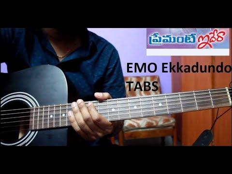 emo ekkadundo - Guitar tabs- perfect lesson