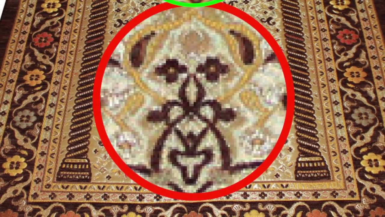 Hidden Pictures And Faces On Islamic Prayer Mats Part 2