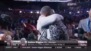 Andrew Wiggins Drafted First Overall at The 2014 NBA Draft