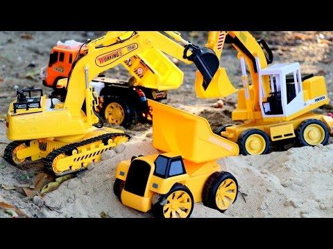 รีวิวของเล่น รถดั้มบังคับวิทยุ รถแม็คโคร บังคับวิทยุ - วีดีโอสำหรับเด็ก