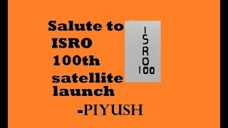 Piyush art - How to draw Salute to ISRO for its 100th satellite