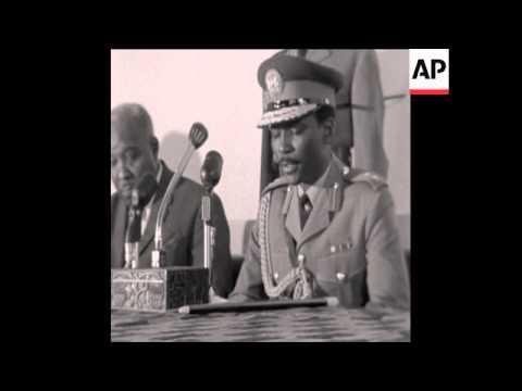 SYND 17 6 67 NIGERIAN LEADER GENERAL GOWON OPENS NEW INSTITUTE OF INTERNATIONAL AFFAIRS