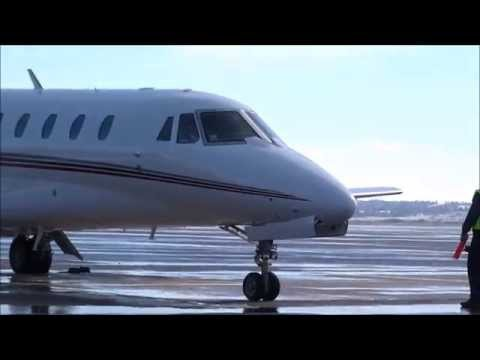 NetJets - Cessna Citation Sovereign C680 - Engine Start, Tax