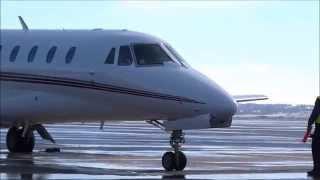 NetJets - Cessna Citation Sovereign C680 - Engine Start, Taxi