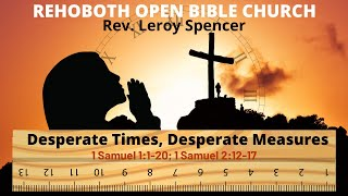 Rehoboth Open Bible Church Sunday Service March 29, 2020