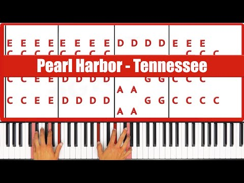 ♫ ORIGINAL - How To Play Tennessee Pearl Harbor Piano Tutorial! - PGN Piano