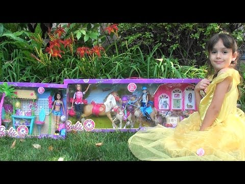 Barbie: New Barbie Story: Barbie Pink Passport Horse and Ranch Toy Set, Barbie Tiki Hut Play Set