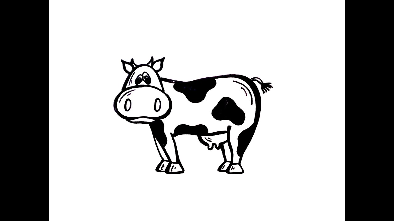 How to draw a cow 3